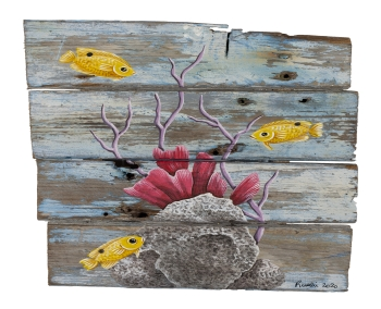 3 Yellow Fish - SOLD