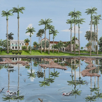 Reflections in Codrington Pond